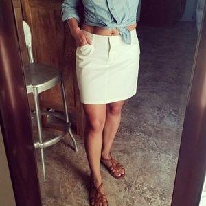 Express white mini skirt
